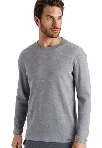 Hanro Heren Night & Day Shirt l/slv shirt grijs