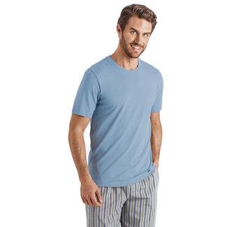 Hanro  Hanro Men Sleep & Lounge Living Leisure  s/slv  shirt blue