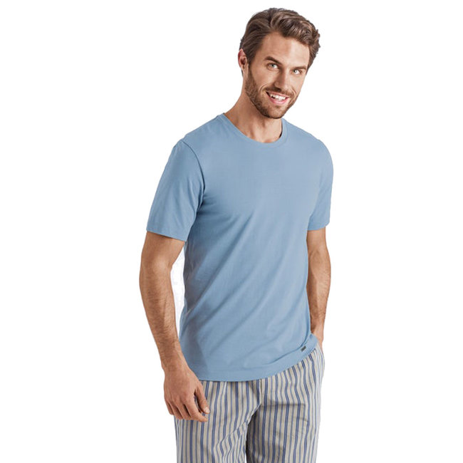 Hanro  Hanro Männer Sleep & Lounge Living Leisure s/slv  shirt blau
