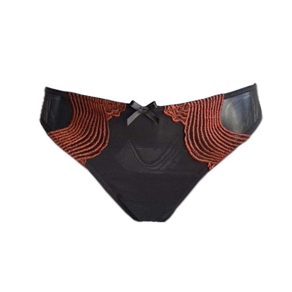 AMBRA Lingerie slips Dunes string zwart 1470