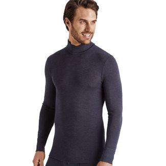Hanro  Hanro Men ski underwear Woolen Silk turtleneck grey 073403