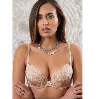 AMBRA  AMBRA Lingerie Bras Titanium Push-up bra Skin 0438
