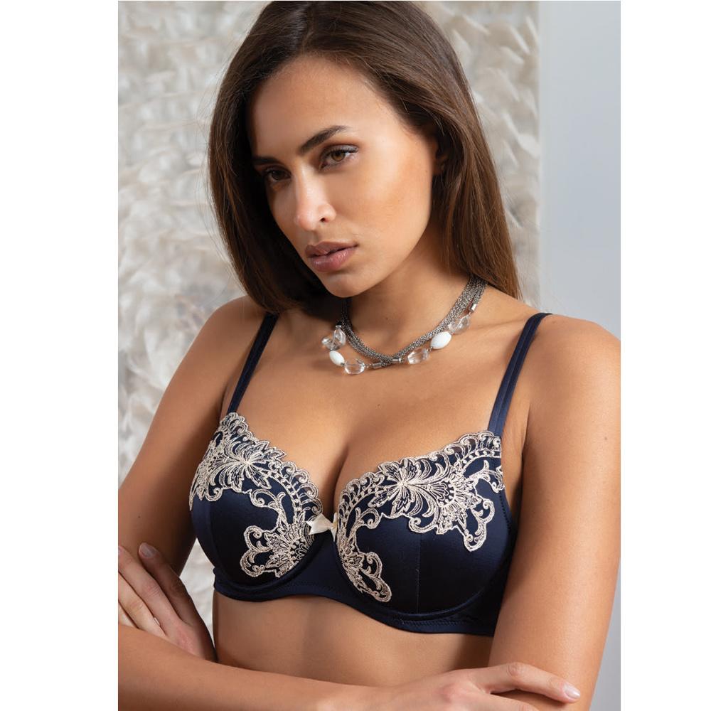 AMBRA lingerie BHs Titanium push up bh blauw 0438