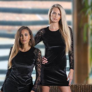 AMBRA  AMBRA Clothes  Platinum Royale Black Lace  Dress l/slv 8405