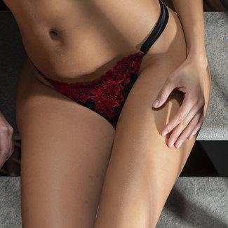 AMBRA AMBRA Lingerie Slips Platinum Royale Tanga zwart/rood 1635