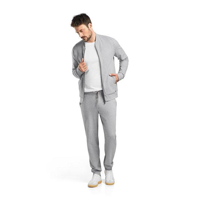 Hanro  Hanro Heren Sleep & Lounge Living Leisure Rits-jas grijs