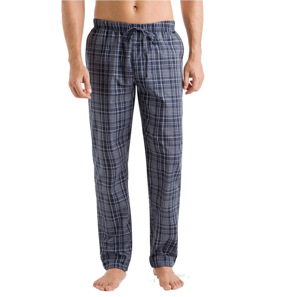 Hanro Heren Sleep & Lounge Night & Day lange broek blauw