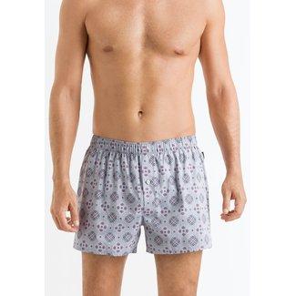 Hanro  Hanro Heren Ondergoed Fancy Woven boxershorts grijs