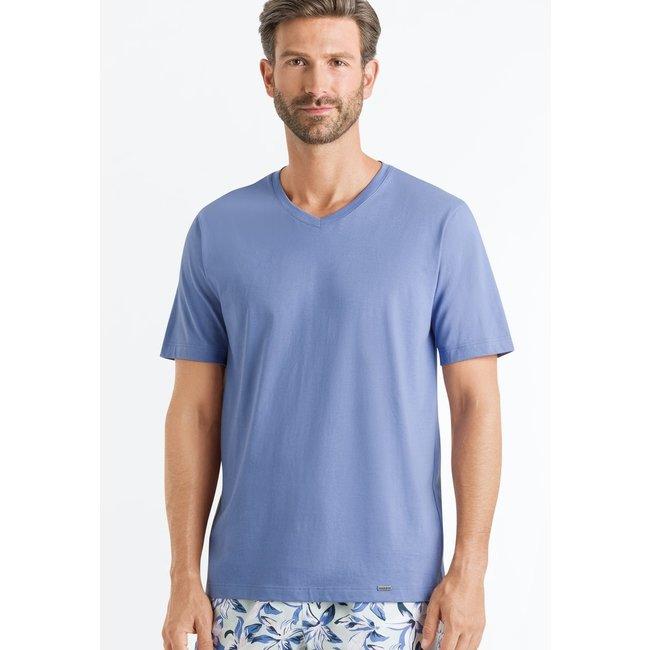 Hanro  Hanro Heren Sleep & Lounge Living Leisure s/slv  shirt blauw