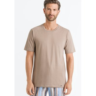 Hanro  Hanro Männer Sleep & Lounge Living Leisure k/arm T-shirt braun 075050