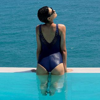 Lise Charmel  Lise Charmel Bademode Ajourage Couture badeanzug blau ABA9815