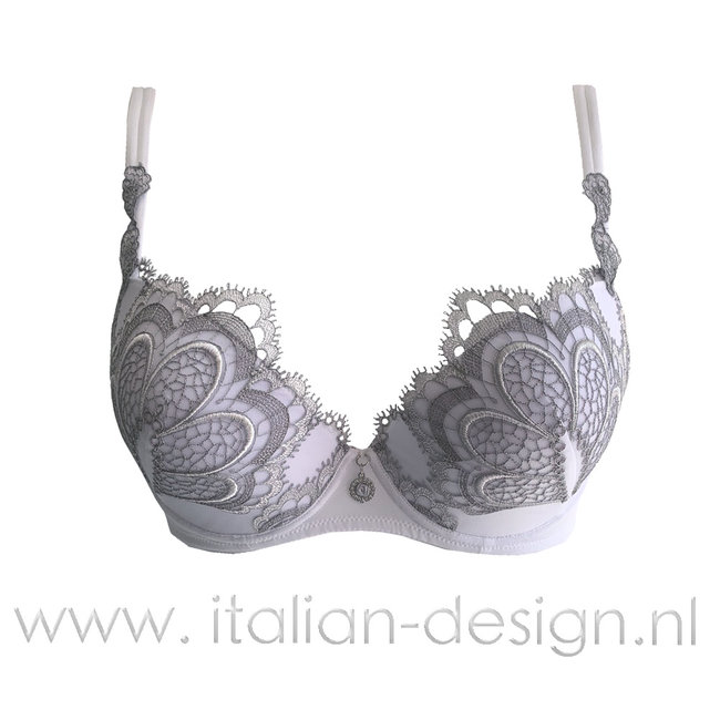 AMBRA  AMBRA Lingerie BH's Grand Arche  Push-up BH Wit 0328