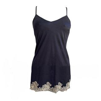AMBRA  AMBRA lingerie Titanium Slipdress short Blue 8433