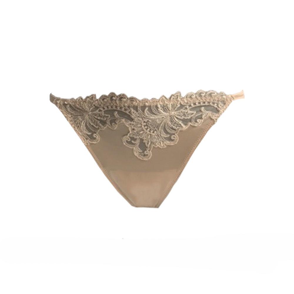 AMBRA Lingerie Slips Titanium Tanga Huid 1435