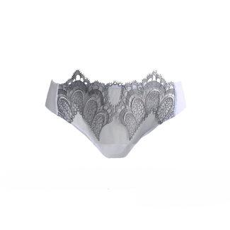 AMBRA  AMBRA Dessous Slips Grand Arche brasil Weiß/Grau 1329