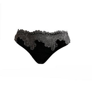 AMBRA  AMBRA Lingerie Slips Platinum Royale String  zwart/zilver 1630