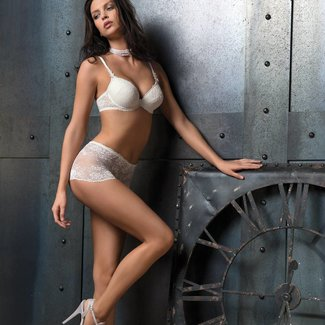 AMBRA AMBRA Dessous slips Chantilly boxer weiß  1373