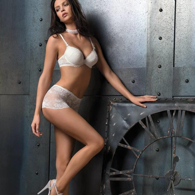 AMBRA AMBRA Lingerie slips Chantilly boxer white  1373