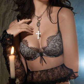 AMBRA  AMBRA Lingerie set  Secret Feelings cuffs lace black