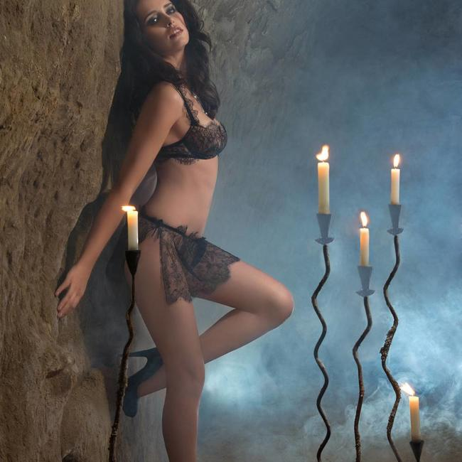 AMBRA AMBRA Dessous  set  Feelings BH+String rock schwarz