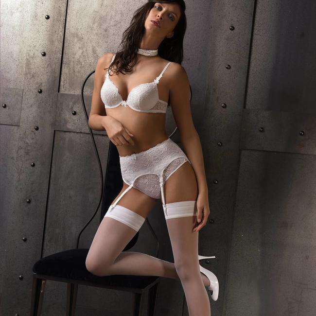 AMBRA  AMBRA Lingerie slips Chantilly Brasil white 1379