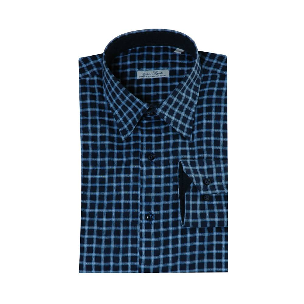 Monti blauw overhemd Country