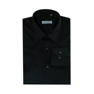 Enrico Monti  Monti black shirt Aliseo SLIM FIT