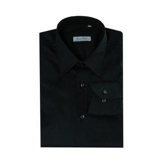 Enrico Monti  Monti zwart overhemd Aliseo SLIM FIT