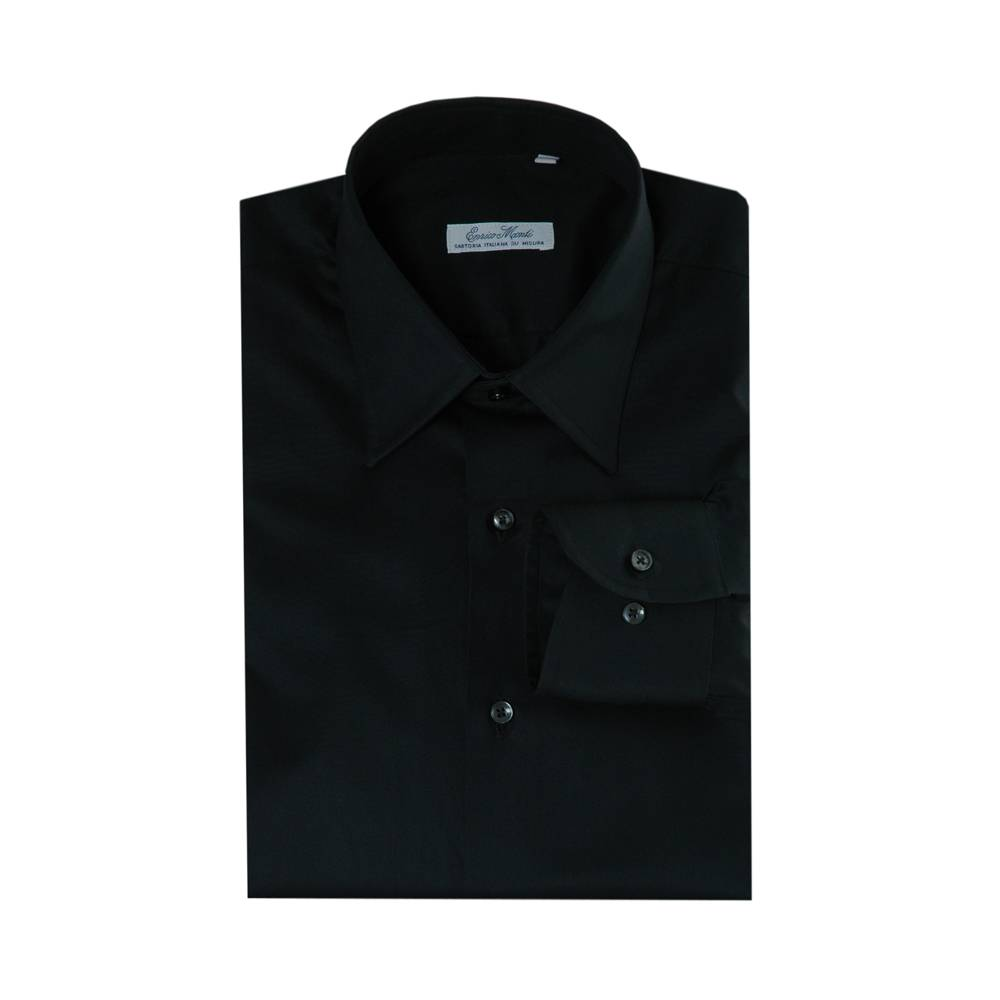 Italian Design Monti zwart overhemd Aliseo SLIM FIT