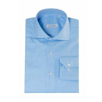 Enrico Monti  Monti blauw overhemd Bracciano