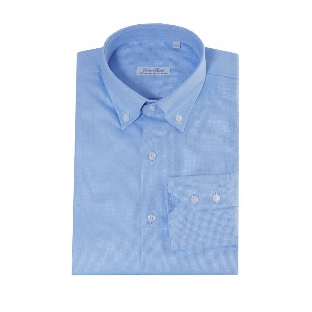 Italian Design Monti blauw overhemd Maggiore