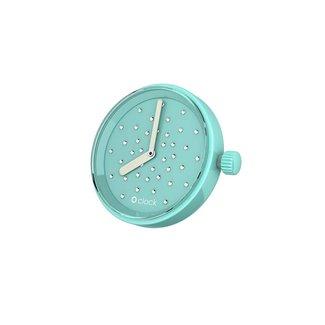 O clock Turquoise O clock klokje Crystal Swarovski