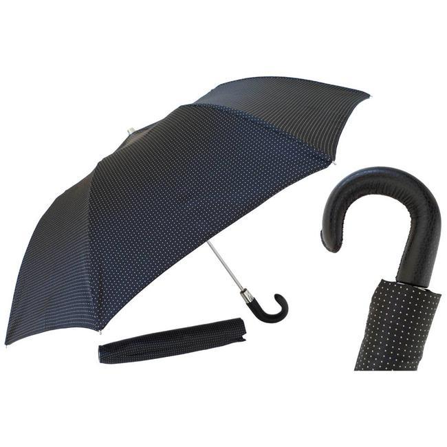 Pasotti Pasotti Men's umbrella foldable blue with yellow dots