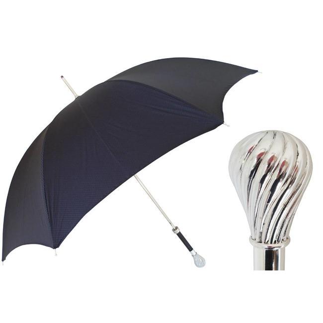 Pasotti Pasotti heren paraplu  bruin met fijn geweven dessin