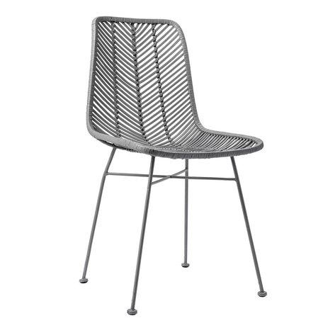stoel rotan grijs
