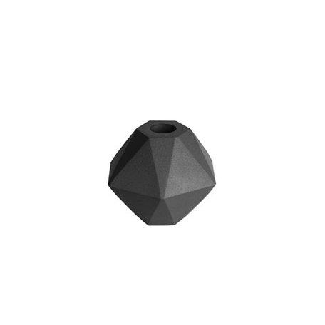 Kandelaar hexagon - zwart
