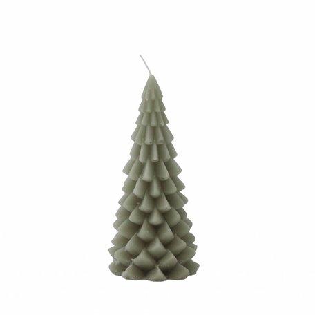 Kerstboom kaars groot (eucalyptus)