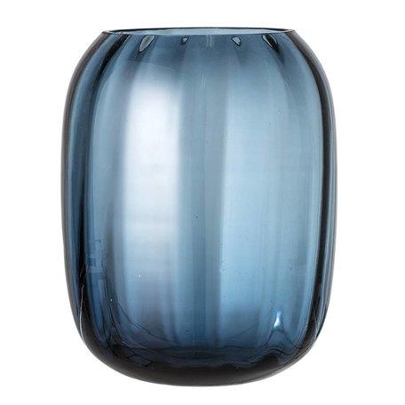 Grote vaas blauw