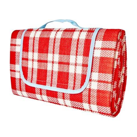 Picknick deken rood geblokt