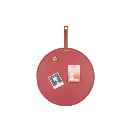 Memo magneetbord roodbruin