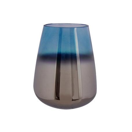Geoliede vaas blauw (L)