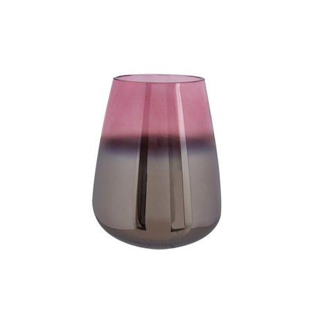 Geoliede vaas roze (m)
