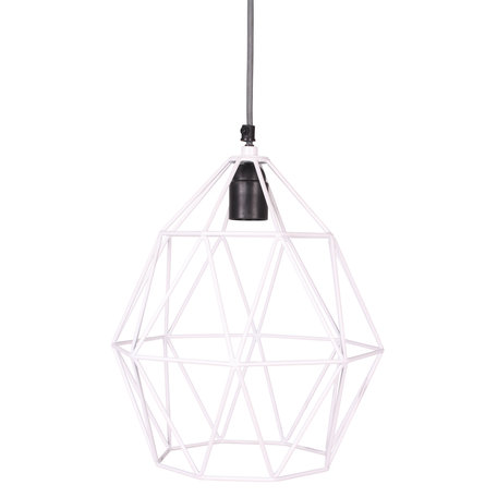 Wire hanglamp wit