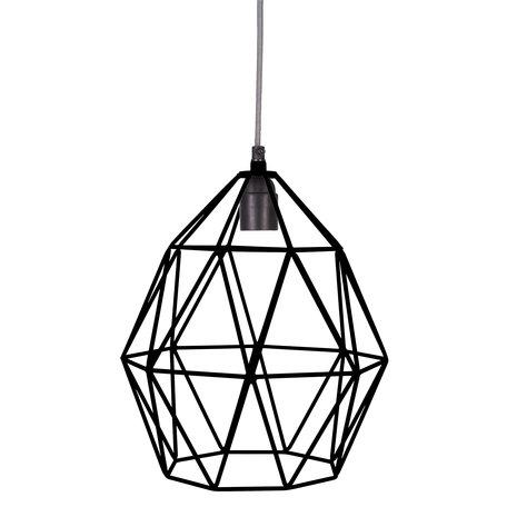 Wire hanglamp zwart