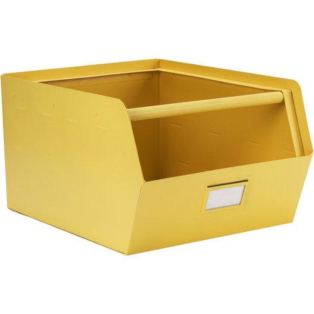 Metalen bak geel