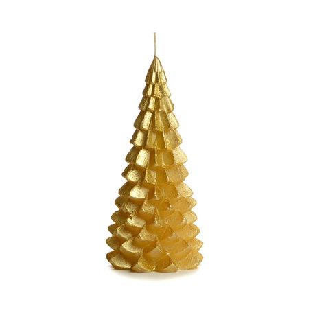 Kerstboom kaars groot (goud)