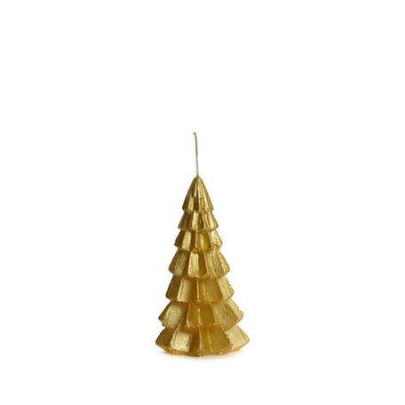 Kerstboom kaars klein (goud)