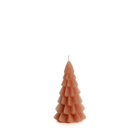 Kerstboom kaars klein (oudroze)
