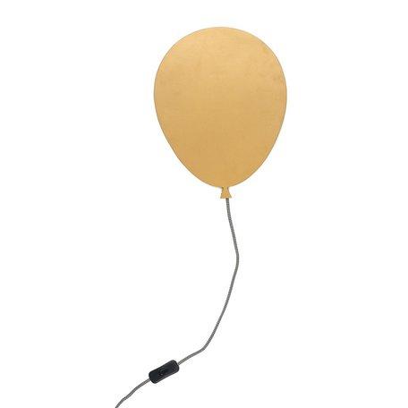 Wandlamp ballon goud