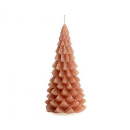Kerstboom kaars groot (oudroze)